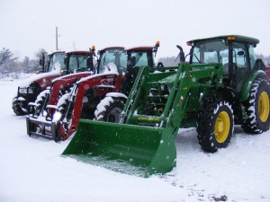 Our fleet of snow removal vehicles