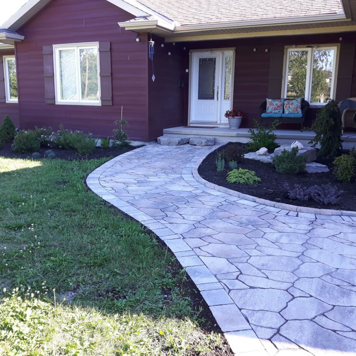 Almonte natural stone effect pathway
