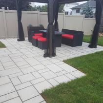 Contemporary patio using Tec